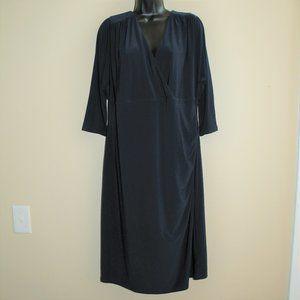 Lauren Ralph Lauren Navy Blue Ruched Dress sz 16W